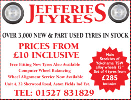 Jefferies Tyres Advert