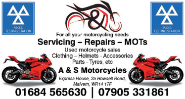 A & S Motorcycle Centre Advert