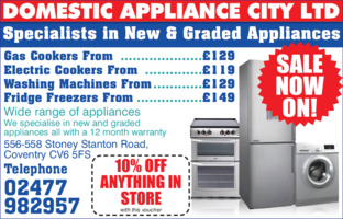 Domestic Appliance City Ltd Advert