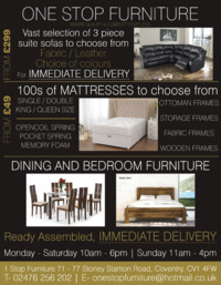 1 Stop Furniture Store Advert