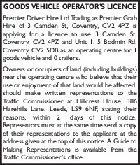 Premier Driver Hire Ltd Advert