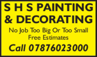 S H S Painter And Decorator Advert