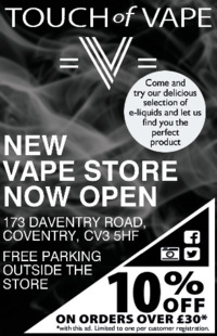 Touch Of Vape Advert