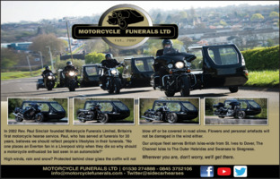 Motorcycle Funerals Ltd Advert