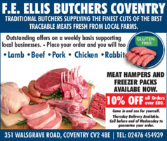 F E Ellis Butcher Advert