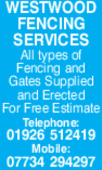 Westwood Fencing Services Advert