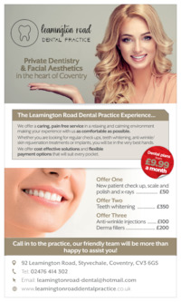 Leamington Road Dental Practice Advert