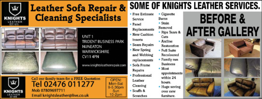 Knights Leather Repair Ltd Advert