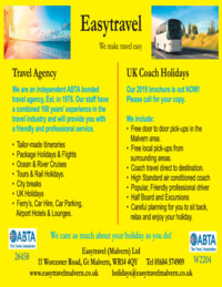 Easy Travel (Malvern) Ltd Advert