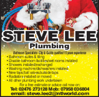 Steve Lee Plumbing & Heating Advert