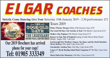 Elgar Coaches Advert