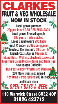Clarkes Greengrocers Advert