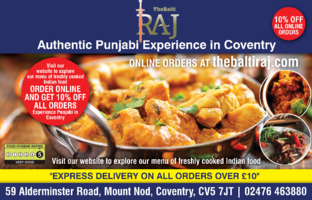 The Balti Raj Advert