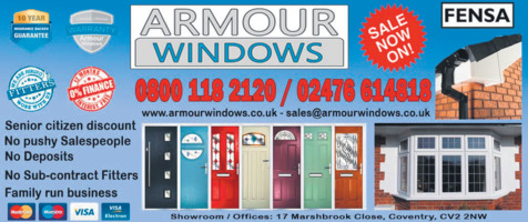 Armour Windows UK Ltd Advert