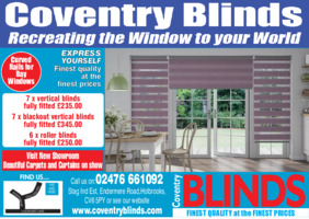 Coventry Vertical Blinds Ltd Advert