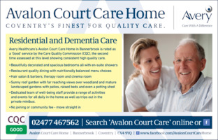 Avalon Court Care Home Advert