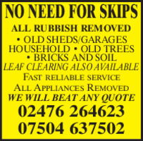 No Need For Skips Advert