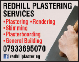 Redhill Plastering Services Advert