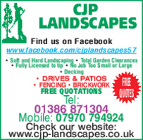 C J P Landscapes Advert