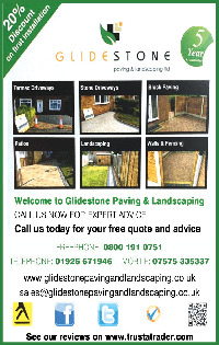 Glidestone Paving & Landscaping Advert