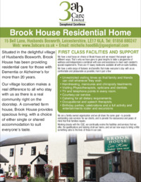 Brook House Care Home Advert
