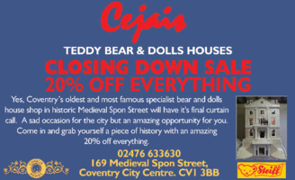 Cejais Bears & Dolls Houses Advert