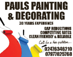 Pauls Painting & Decorating Advert