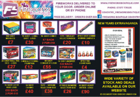Fireworks Boutique Advert