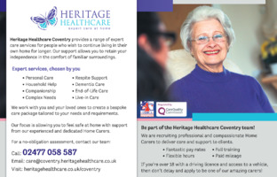 Heritage Healthcare Franchising Ltd Advert