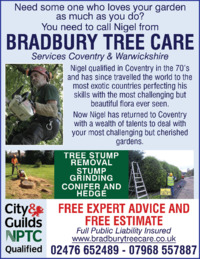 Bradbury Tree Care Advert