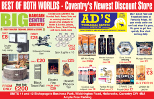 Ad's Discount Centre Advert