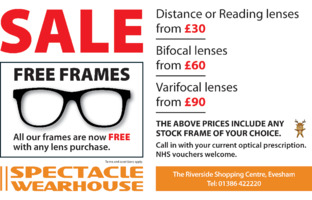 Spectacle Warehouse Advert