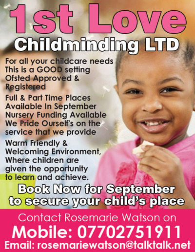 1st Love Childminding Ltd Advert