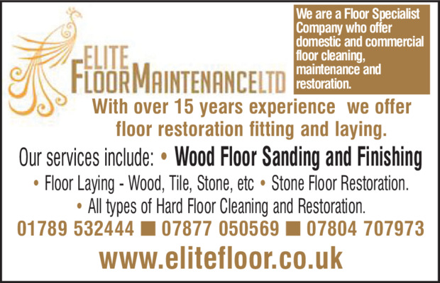 Elite Floor Maintenance Advert