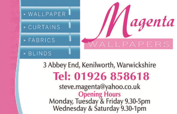 Magenta Wallpaper Advert