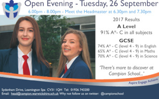 Campion School & Community College Advert