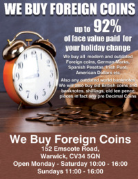 We Buy Foreign Coins Advert