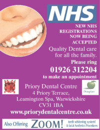 Priory Dental Surgery Advert