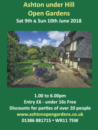 Ashton Under Hill Open Gardens Advert