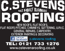 Stevens Roofing Advert