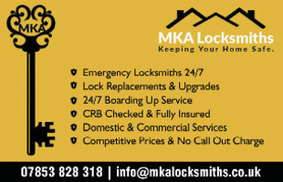 Mka Locksmiths Advert