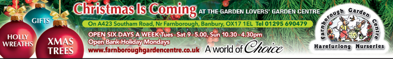 Farnborough Garden Centre Advert