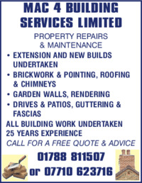 Mac 4 Building Services Ltd Advert