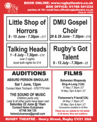 Rugby Theatre Advert