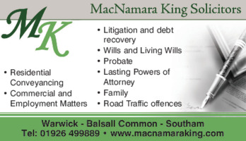 Macnamara King Solicitors Advert