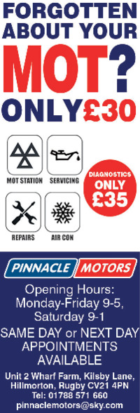 Pinnacle Motors Advert