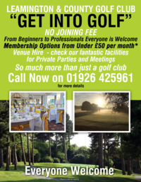 Leamington & County Golf Club Advert