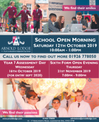 Arnold Lodge School Advert