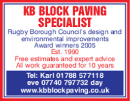 Kb Block Paving Advert