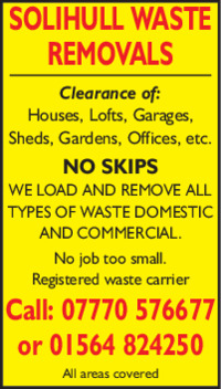 Solihull Waste Removals Advert